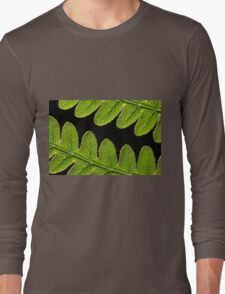 Macro photo of a bracken fern leaf  Long Sleeve T-Shirt