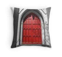 Red Door 2 Throw Pillow