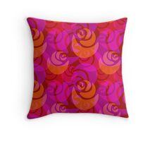 Roses pattern Throw Pillow