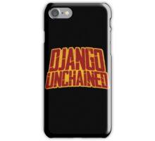 DJANGO UNCHAINED - Typography design iPhone Case/Skin