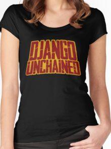 DJANGO UNCHAINED - Typography design Women's Fitted Scoop T-Shirt