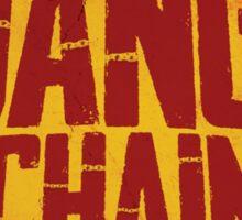 DJANGO UNCHAINED - Typography design Sticker