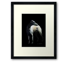 Whippet In Black Framed Print
