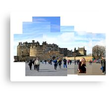 Edinburgh Castle Montage  Canvas Print