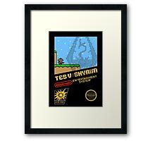 Skyrim Retro NES 8-Bit Cover Framed Print
