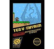 Skyrim Retro NES 8-Bit Cover Photographic Print