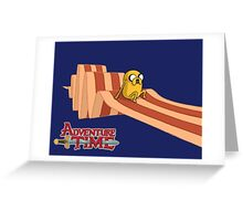 Jake Gliding on Bacon Greeting Card
