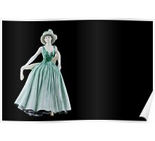 Bone China Figurine wearing a Green Dress Poster
