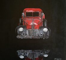 little red toy truck by Jo O'Brien-Welch