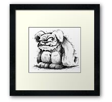 The Grunkle Chunk - Furry Monster Framed Print