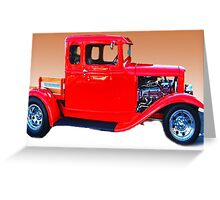 1932 red pickup truck Greeting Card