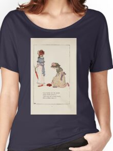 Mother Goose or the Old Nursery Rhymes by Kate Greenaway 1881 0022 Lucy Locket Women's Relaxed Fit T-Shirt