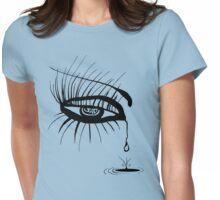Eye Sad Womens Fitted T-Shirt