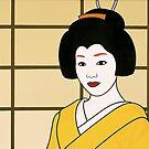 Geisha in Yellow by Simone Maynard