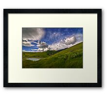 Storm Approaching Los Vaqueros Framed Print
