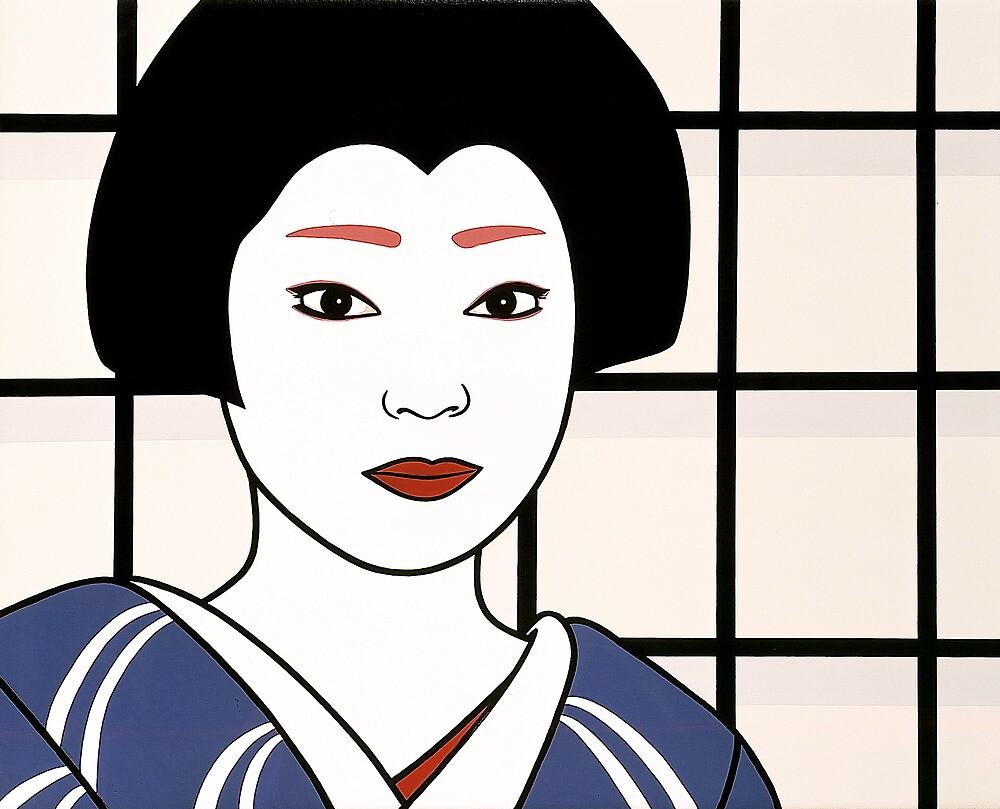 Geisha - Portrait of an artist. by Simone Maynard