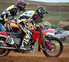 Danger on a dirt track - Motocross Sidecar Team by PhotoButterfly