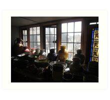 Pots In The Window (2) Art Print