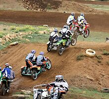 Watch Us Fly - Motocross Sidecar Racing by PhotoButterfly