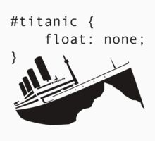 Titanic in CSS computer code by abbotsford