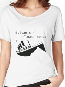 Titanic in CSS computer code Women's Relaxed Fit T-Shirt