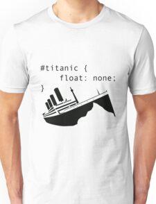 Titanic in CSS computer code Unisex T-Shirt