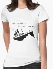 Titanic in CSS computer code Womens Fitted T-Shirt