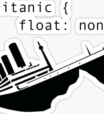 Titanic in CSS computer code Sticker