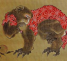 'Monkey' by Katsushika Hokusai (Reproduction) by Roz Abellera Art Gallery