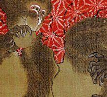 'Monkey' by Katsushika Hokusai (Reproduction) Sticker
