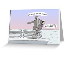 Titanic + Pee Wee's Big Adventure Greeting Card