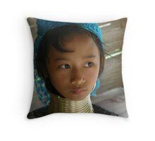 Girl in Chiang Mai Throw Pillow