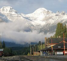 Banff Railway Station by Sara  Morton