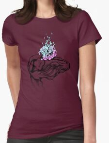 Gathering My Thoughts for the Night Womens Fitted T-Shirt