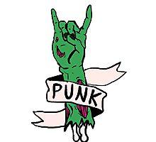 Punk Rock Zombie Photographic Print
