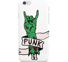 Punk Rock Zombie iPhone Case/Skin
