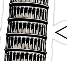 The Leaning Tower of Pisa Italic HTML Sticker