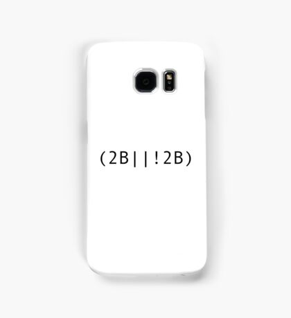 Geeky Coding Version: To be or not to be Shakespeare Quote Samsung Galaxy Case/Skin