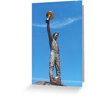 Peter Brock Statue Greeting Card