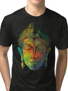 Buddha on pipal leaf Tri-blend T-Shirt