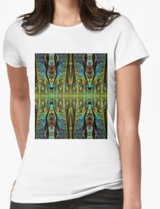 Tribal patterns, fractal abstract Womens Fitted T-Shirt