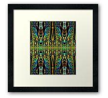 Tribal patterns, fractal abstract Framed Print