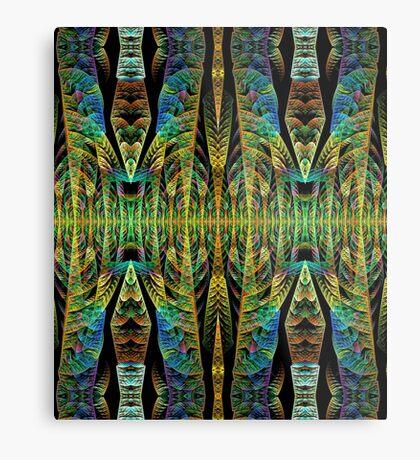 Tribal patterns, fractal abstract Metal Print