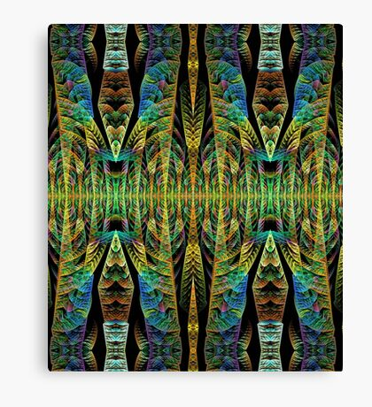 Tribal patterns, fractal abstract Canvas Print