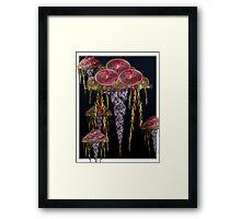 ©DA Jellyfish Fractal Framed Print