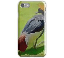 African Crowned Crane iPhone Case/Skin