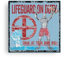 The Lifeguard Creature Is On Duty (2) variant Canvas Print