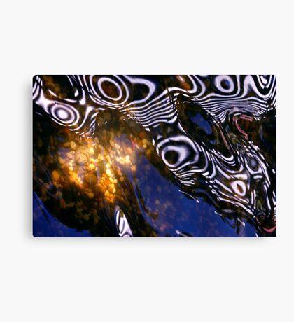 Aquatic dance. Canvas Print