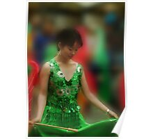 The Green Satin Dress Poster