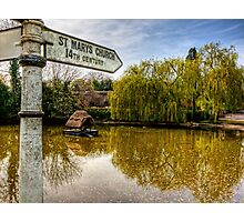 The Duckpond in the village of Crawley, near Winchester Photographic Print